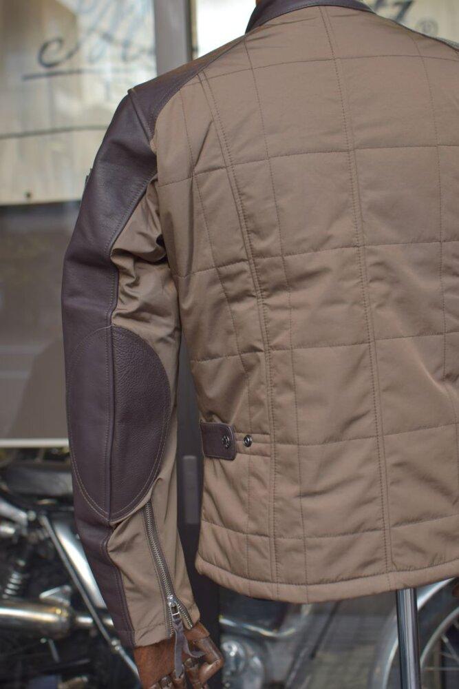 MFB-2300 レザースリーブシングルライダースジャケット