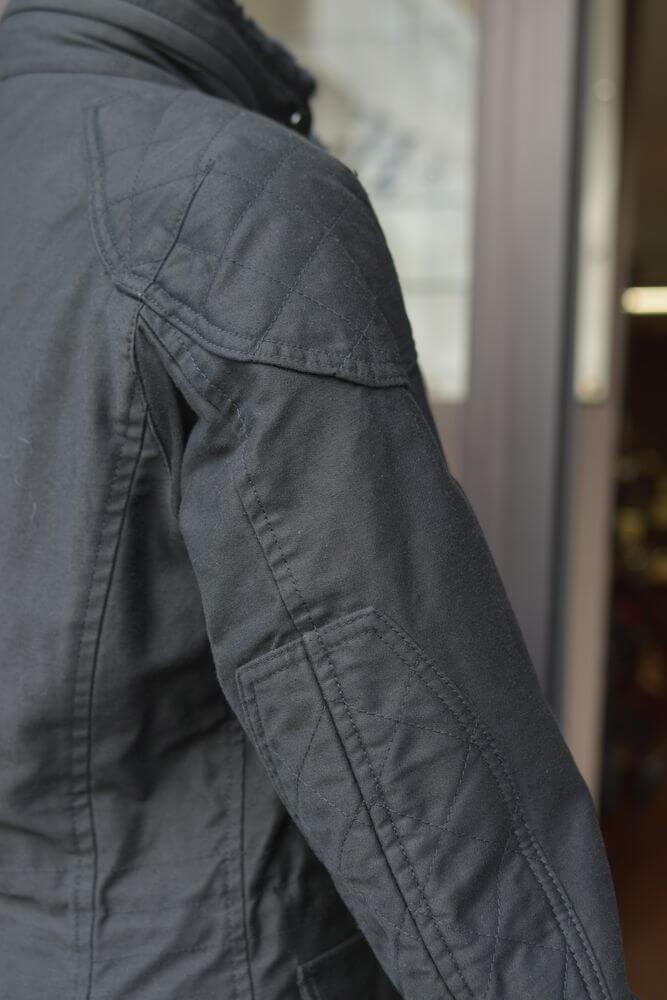 マックスフリッツファム・アウトレット MFJ-1546 キルティングパッチスタンドカラージャケット