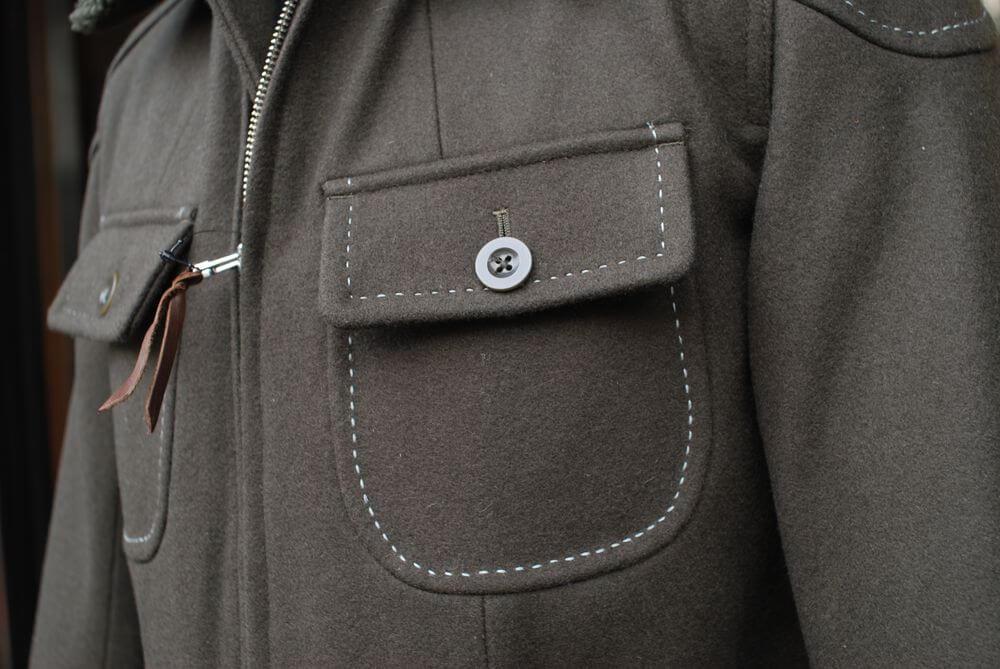MFJ-1645 ウィンターハンドステッチメルトンジャケット2
