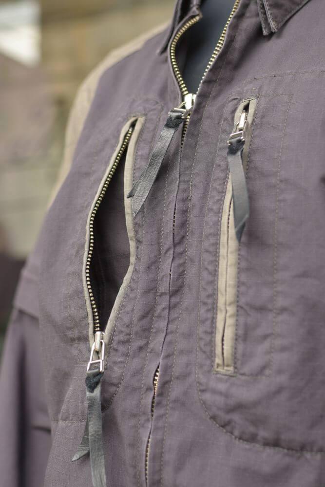 MFS-1584 2WAY比翼ボタンダウンシャツ/Ladies'